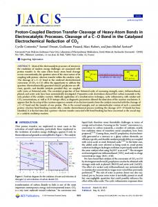 Proton-Coupled Electron Transfer Cleavage of Heavy-Atom Bonds in ...