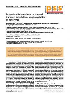 Proton irradiation effects on thermal transport in ... - Wiley Online Library