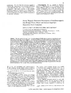 Proton Magnetic Resonance Investigation of ... - ACS Publications