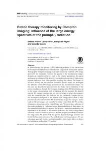 Proton therapy monitoring by Compton imaging - Creatis - INSA Lyon