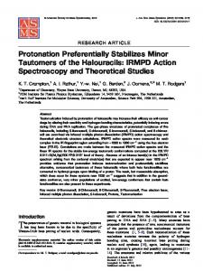 Protonation Preferentially Stabilizes Minor Tautomers of ... - CiteSeerX