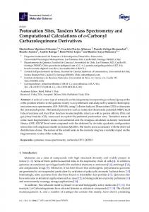 Protonation Sites, Tandem Mass Spectrometry and