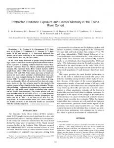 Protracted Radiation Exposure and Cancer ... - Radiation Research
