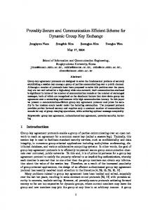 Provably-Secure and Communication-Efficient Scheme for Dynamic ...