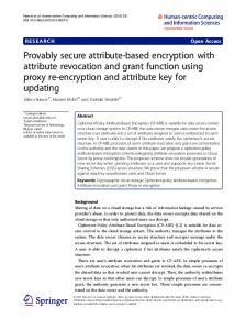 Provably secure attribute-based encryption with attribute revocation ...