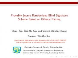 Provably Secure Randomized Blind Signature Scheme Based on ...