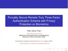 Provably Secure Remote Truly Three-Factor Authentication Scheme ...
