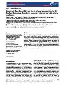 Proximal flow to middle cerebral artery is ... - Wiley Online Library