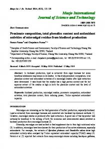 Proximate composition, total phenolics content and antioxidant ...