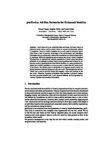 proXimity: Ad-Hoc Networks for Enhanced Mobility