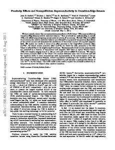 Proximity Effects and Nonequilibrium Superconductivity in Transition ...