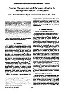 Prussian Blue onto Activated Carbon as a Catalyst for Heterogeneous ...