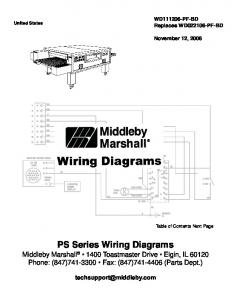 PS Series Wiring Diagrams
