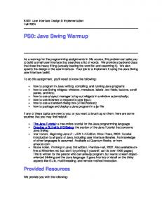 PS0: Java Swing Warmup - DSpace@MIT