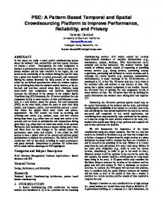 PSC: A Pattern-Based Temporal and Spatial Crowdsourcing ... - arXiv