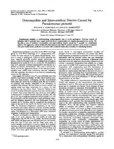 Pseudomonas pickettii - Journal of Clinical Microbiology - American ...