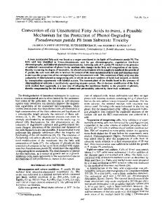 Pseudomonas putida P8 from Substrate Toxicity - Applied and ...