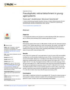Pseudophakic retinal detachment in young-aged