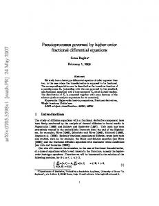 Pseudoprocesses governed by higher-order fractional differential