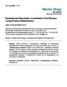 Pseudopterosin Biosynthesis: Aromatization of the Diterpene Cyclase ...