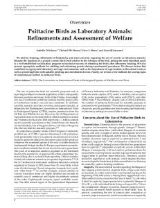 Psittacine Birds as Laboratory Animals - Ingenta Connect