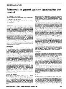 Psittacosis in general practice: implications for - NCBI