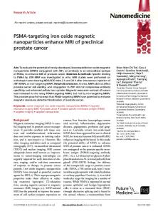 PSMA-targeting iron oxide magnetic nanoparticles ...