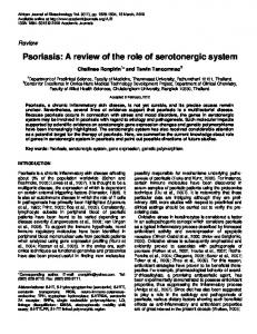 Psoriasis: A review of the role of serotonergic system - CiteSeerX