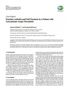 Psoriatic Arthritis and Nail Psoriasis in a Patient with Concomitant ...