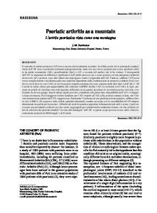 Psoriatic arthritis as a mountain - Semantic Scholar