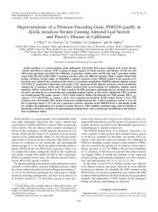 (pspB), in Xylella fastidiosa Strains Causing Almond Leaf Scorch and ...