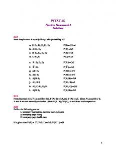 PSTAT 5E Practice Homework 3 Solutions