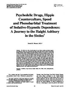 Psychedelic Drugs, Hippie Counterculture, Speed and Phenobarbital ...