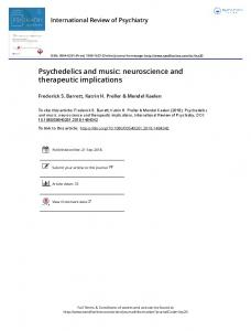 Psychedelics and music: neuroscience and