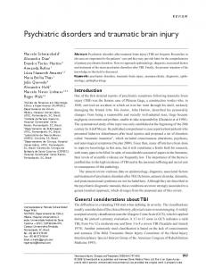 Psychiatric disorders and traumatic brain injury - BioMedSearch