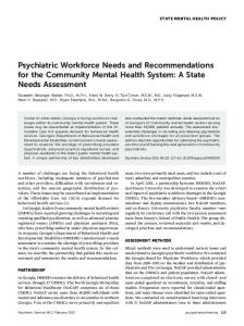 Psychiatric Workforce Needs and ... - Psychiatric Services