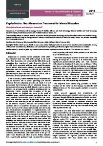 Psychobiotics - Journal of Clinical Nutrition & Dietetics - iMedPub