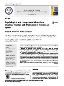 Psychological and interpersonal dimensions of sexual ...