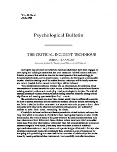 Psychological Bulletin - American Psychological Association