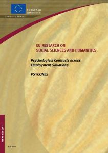 Psychological Contracts across Employment ... - Cordis - Europa EU