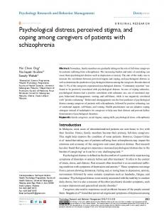 Psychological distress, perceived stigma, and