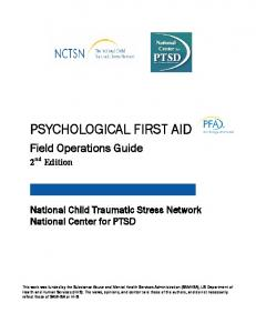 Psychological First Aid: Field Operations Guide, 2nd Edition - cidrap