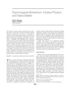 Psychological Momentum: Intuitive Physics and ... - SAGE Journals