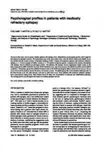 Psychological profiles in patients with medically ...