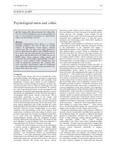 Psychological stress and colitis.
