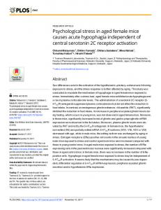 Psychological stress in aged female mice causes