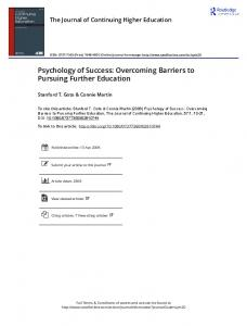 Psychology of Success: Overcoming Barriers to ...