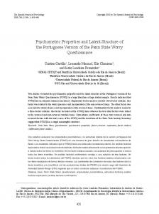Psychometric Properties and Latent Structure of ... - Semantic Scholar