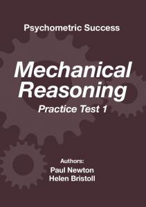 Psychometric Success Mechanical Reasoning – Practice Test 1