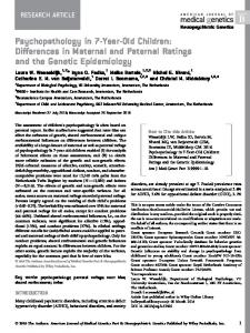 Psychopathology in 7-year-old children ... - Wiley Online Library